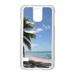 Isla Saona Caribbean Paradise Beach Samsung Galaxy S5 Case (white) by stineshop