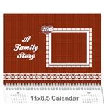 A Family Story Calendar 18m 2015 - Wall Calendar 11  x 8.5  (12-Months)