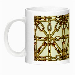 Chain Pattern Collage Glow In The Dark Mug by dflcprints