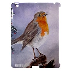 Robin On Log Apple Ipad 3/4 Hardshell Case (compatible With Smart Cover) by ArtByThree