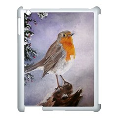 Robin On Log Apple Ipad 3/4 Case (white) by ArtByThree