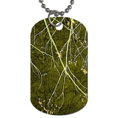 Wild Nature Collage Print Dog Tag (two Sided)  by dflcprints