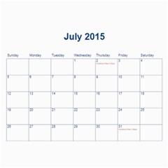 2015 Bps Cal By Bonita   Wall Calendar 11  X 8 5  (12 Months)   Jucngf4osouj   Www Artscow Com Jul 2015