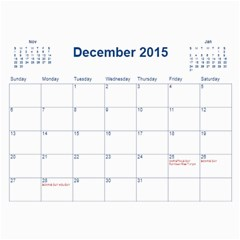 2015 Bps Cal By Bonita   Wall Calendar 11  X 8 5  (12 Months)   Jucngf4osouj   Www Artscow Com Dec 2015