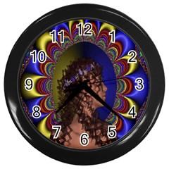 New Romantic Wall Clock (black) by icarusismartdesigns