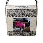I Love my Chihuahua Flap closure Bag Large - Flap Closure Messenger Bag (L)