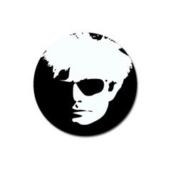 Warhol Magnet 3  (round) by icarusismartdesigns