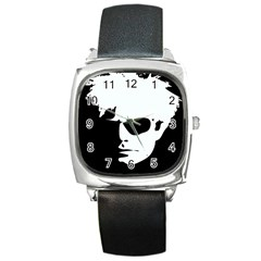 Warhol Square Leather Watch by icarusismartdesigns
