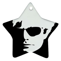 Warhol Star Ornament (two Sides) by icarusismartdesigns