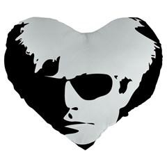 Warhol 19  Premium Heart Shape Cushion by icarusismartdesigns