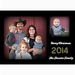 Christmas 2014 By Hilary Troester   5  X 7  Photo Cards   Urhj3uljv36n   Www Artscow Com 7 x5 Photo Card - 1