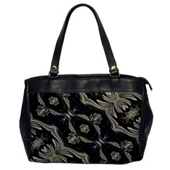 Fancy Ornament Print Oversize Office Handbag (one Side) by dflcprints