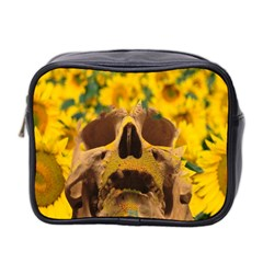 Sunflowers Mini Travel Toiletry Bag (two Sides) by icarusismartdesigns