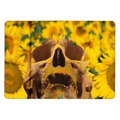 Sunflowers Samsung Galaxy Tab 10 1  P7500 Flip Case by icarusismartdesigns