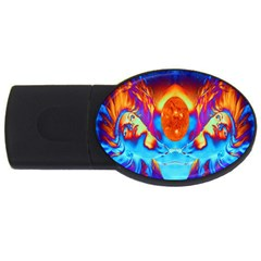 Escape From The Sun 4GB USB Flash Drive (Oval) by icarusismartdesigns