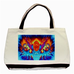 Escape From The Sun Twin Sided Black Tote Bag by icarusismartdesigns