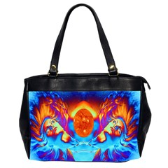 Escape From The Sun Oversize Office Handbag (two Sides) by icarusismartdesigns