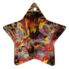 Abstract 4 Star Ornament by icarusismartdesigns