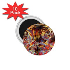 Abstract 4 1 75  Button Magnet (10 Pack) by icarusismartdesigns