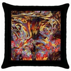 Abstract 4 Black Throw Pillow Case by icarusismartdesigns