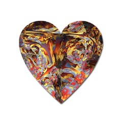 Abstract 4 Magnet (heart) by icarusismartdesigns