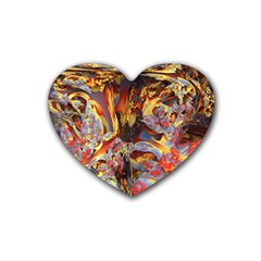 Abstract 4 Drink Coasters (heart) by icarusismartdesigns