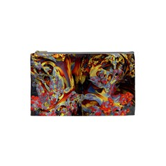 Abstract 4 Cosmetic Bag (Small) by icarusismartdesigns