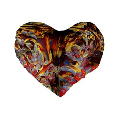 Abstract 4 16  Premium Heart Shape Cushion