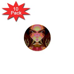 Cat Woman 1  Mini Button (10 Pack) by icarusismartdesigns