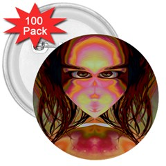 Cat Woman 3  Button (100 Pack) by icarusismartdesigns