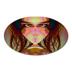 Cat Woman Magnet (oval) by icarusismartdesigns