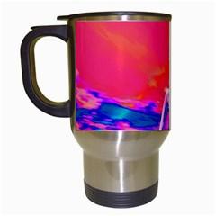 Cyborg Mask Travel Mug (white) by icarusismartdesigns