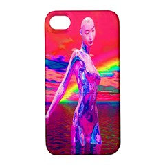Cyborg Mask Apple Iphone 4/4s Hardshell Case With Stand by icarusismartdesigns