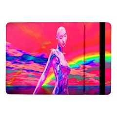 Cyborg Mask Samsung Galaxy Tab Pro 10 1  Flip Case by icarusismartdesigns