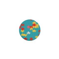 Puzzle Pieces 1  Mini Button by LalyLauraFLM