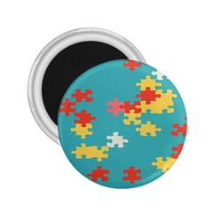 Puzzle Pieces 2 25  Button Magnet by LalyLauraFLM