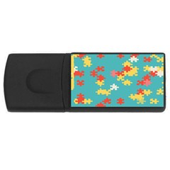 Puzzle Pieces 4gb Usb Flash Drive (rectangle) by LalyLauraFLM