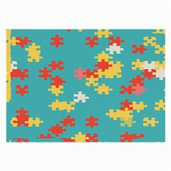 Puzzle Pieces Glasses Cloth (large, Two Sided) by LalyLauraFLM