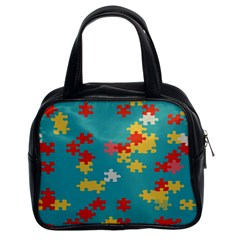 Puzzle Pieces Classic Handbag (two Sides) by LalyLauraFLM