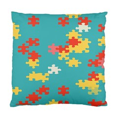 Puzzle Pieces Cushion Case (two Sided)  by LalyLauraFLM