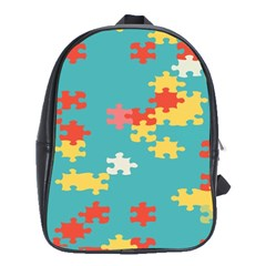 Puzzle Pieces School Bag (large) by LalyLauraFLM