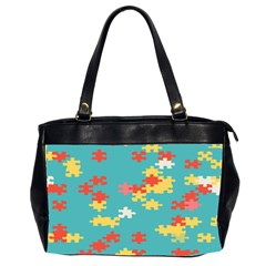 Puzzle Pieces Oversize Office Handbag (two Sides) by LalyLauraFLM