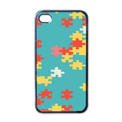 Puzzle Pieces Apple Iphone 4 Case (black) by LalyLauraFLM