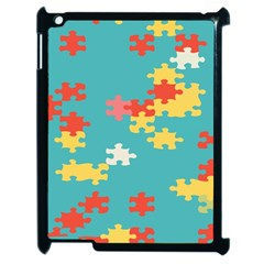Puzzle Pieces Apple Ipad 2 Case (black) by LalyLauraFLM