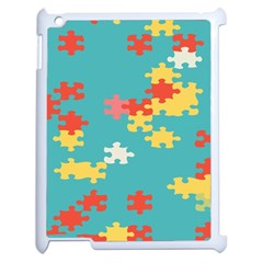 Puzzle Pieces Apple Ipad 2 Case (white) by LalyLauraFLM