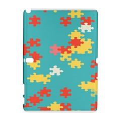 Puzzle Pieces Samsung Galaxy Note 10.1 (P600) Hardshell Case by LalyLauraFLM