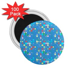 Colorful Squares Pattern 2 25  Magnet (100 Pack)  by LalyLauraFLM