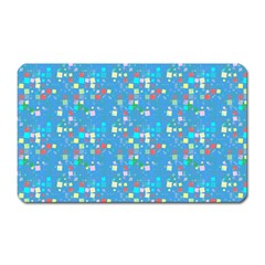 Colorful Squares Pattern Magnet (rectangular) by LalyLauraFLM