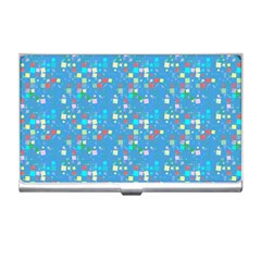 Colorful Squares Pattern Business Card Holder by LalyLauraFLM