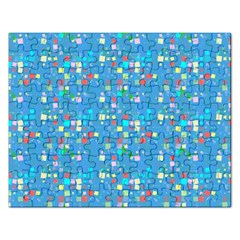Colorful Squares Pattern Jigsaw Puzzle (rectangular) by LalyLauraFLM